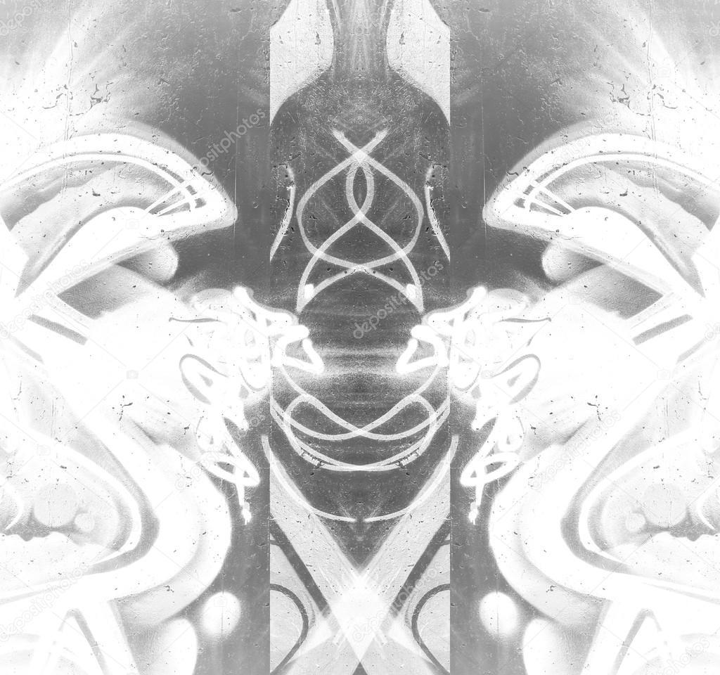Geometryczne Obrazy W Scianie Zdjecie Stockowe C Outsiderzone