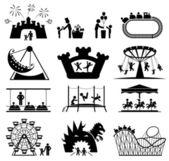 Fotografie Kindheitsvektorsatz. Set mit Piktogrammen.