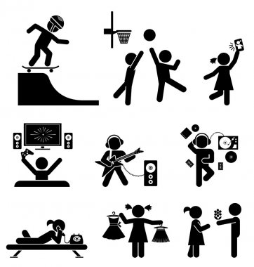 Childhood vector set. Pictogram icon set.