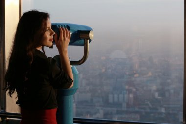 Young Girl with telescope