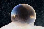 zmrazené mýdlová bublina