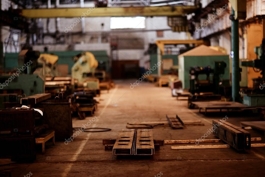 industrial factory on background