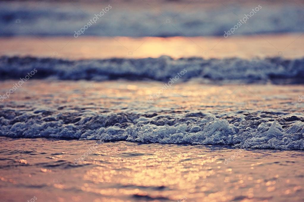 sunset on sea at summer