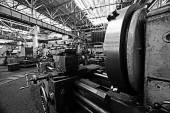 Fotografie Industrie-Fabrik auf Hintergrund