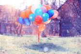 Fotografia Texture di palloncini colorati