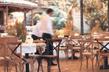 Blurred summer restaurant