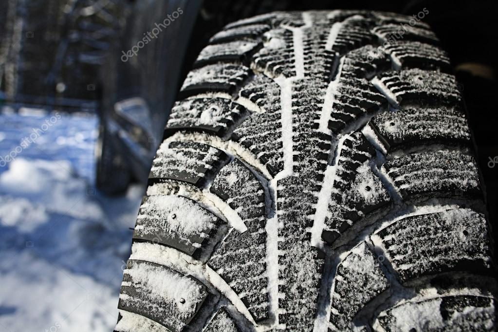 Wheel in snow