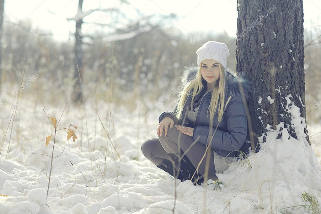 Teen girl in winter