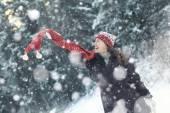 žena zimní portrét