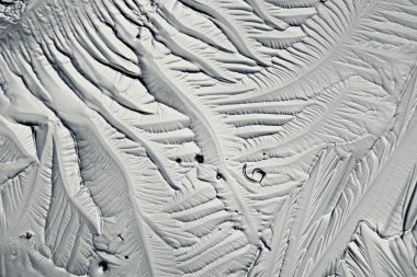 Monochrome texture of ice, frost