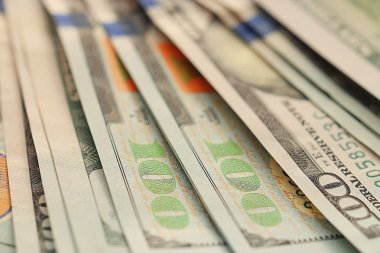 Background of US dollars  banknotes