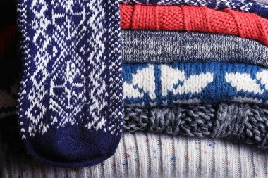 Knitted textile background