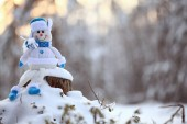 Fotografie Vánoční hračka sněhulák
