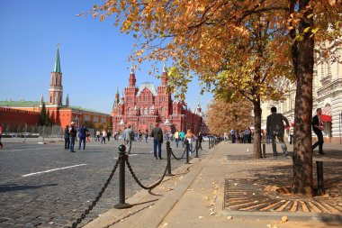 urban view Moscow street cathedrals