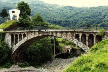 Railway bridge across the chasm