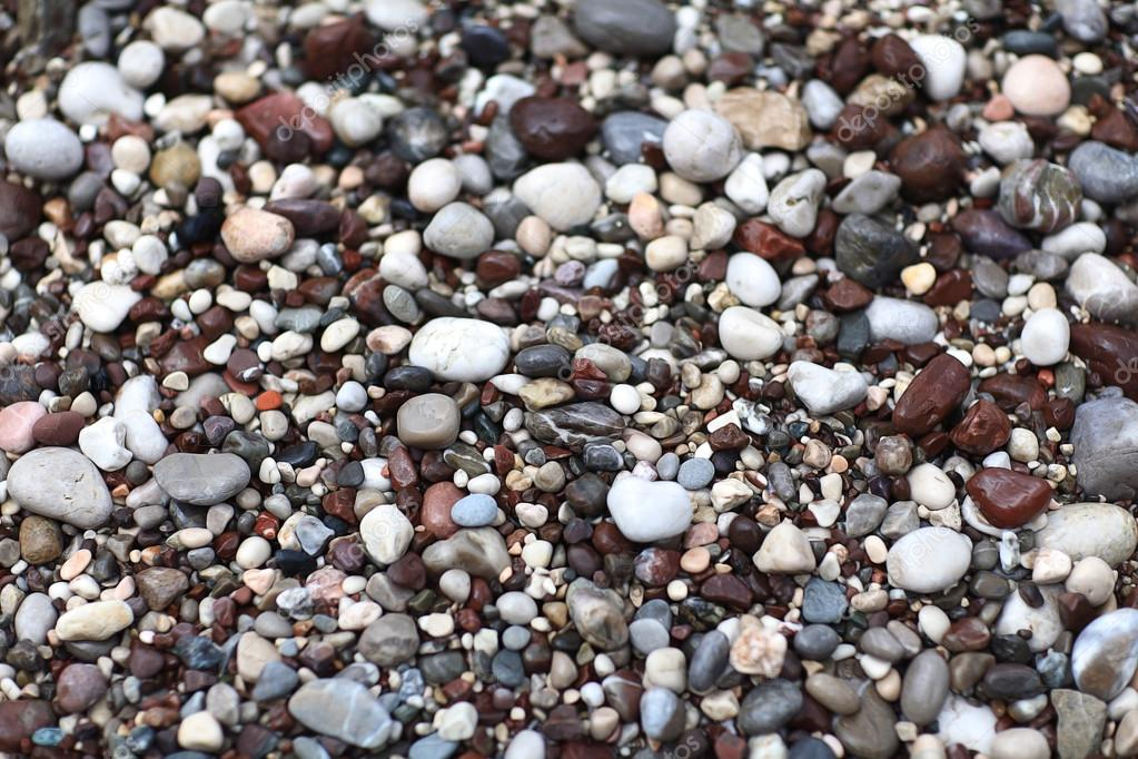 stones on the beach texture