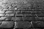Photo texture of the stone pavement