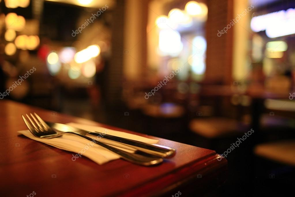 Restaurant interior blurred background — stock photo