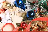 Vánoční koule pozadí