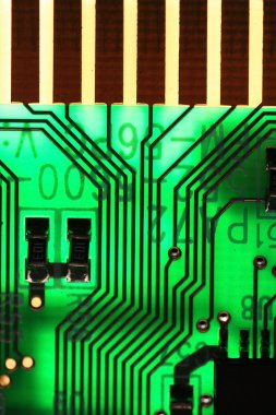 Microelectronics computer chip