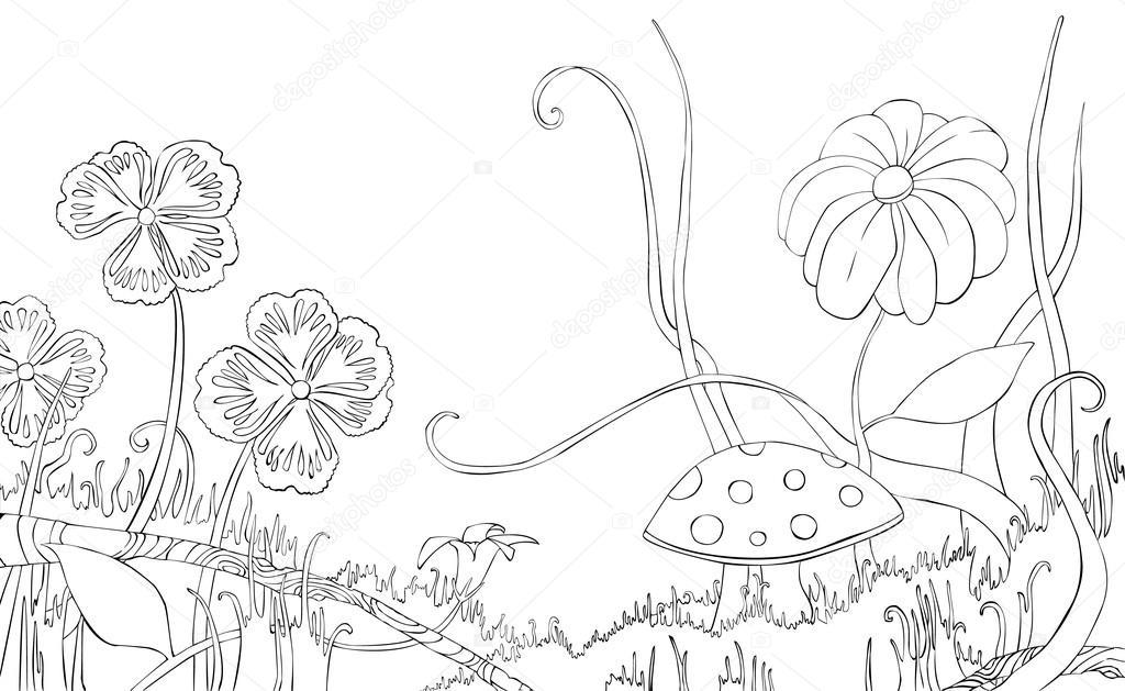 трава и цветы раскраска травы раскраска цветы травы и