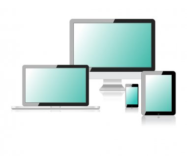 Tablet laptop phone monitor vector