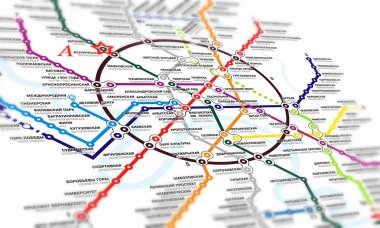 Tube map of Moscow underground.