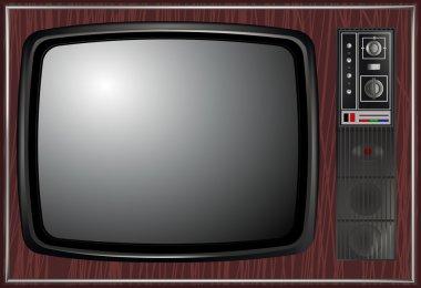 Vector - Retro tv, illustration
