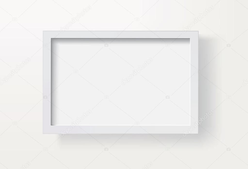 vector marco de cuadro en blanco Eps8 — Vector de stock © corvalola ...