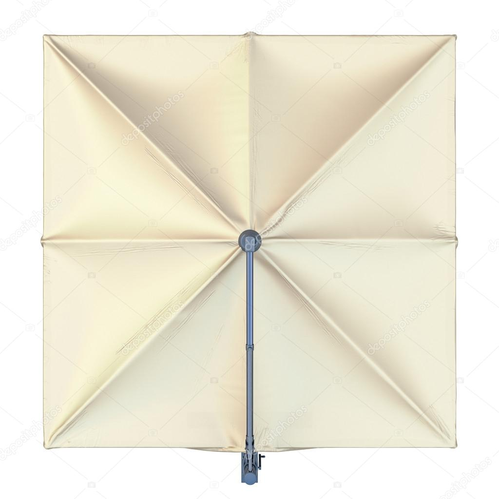 Square Beach Umbrella Top View Stock Photo