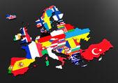 Fotografie European flags