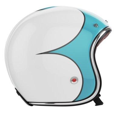 Motorcycle helmet turquoise left