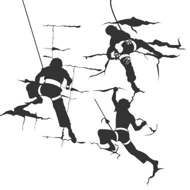 Siluetu climbing