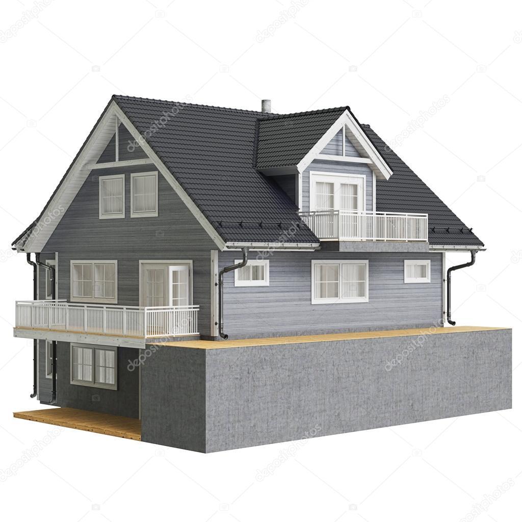 Land Haus Holzfassade Stockfoto C Artyustudio 90498118