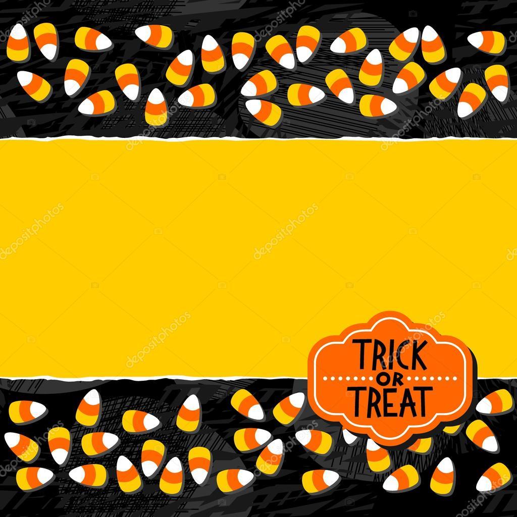 halloween candy white yellow orange sweets double