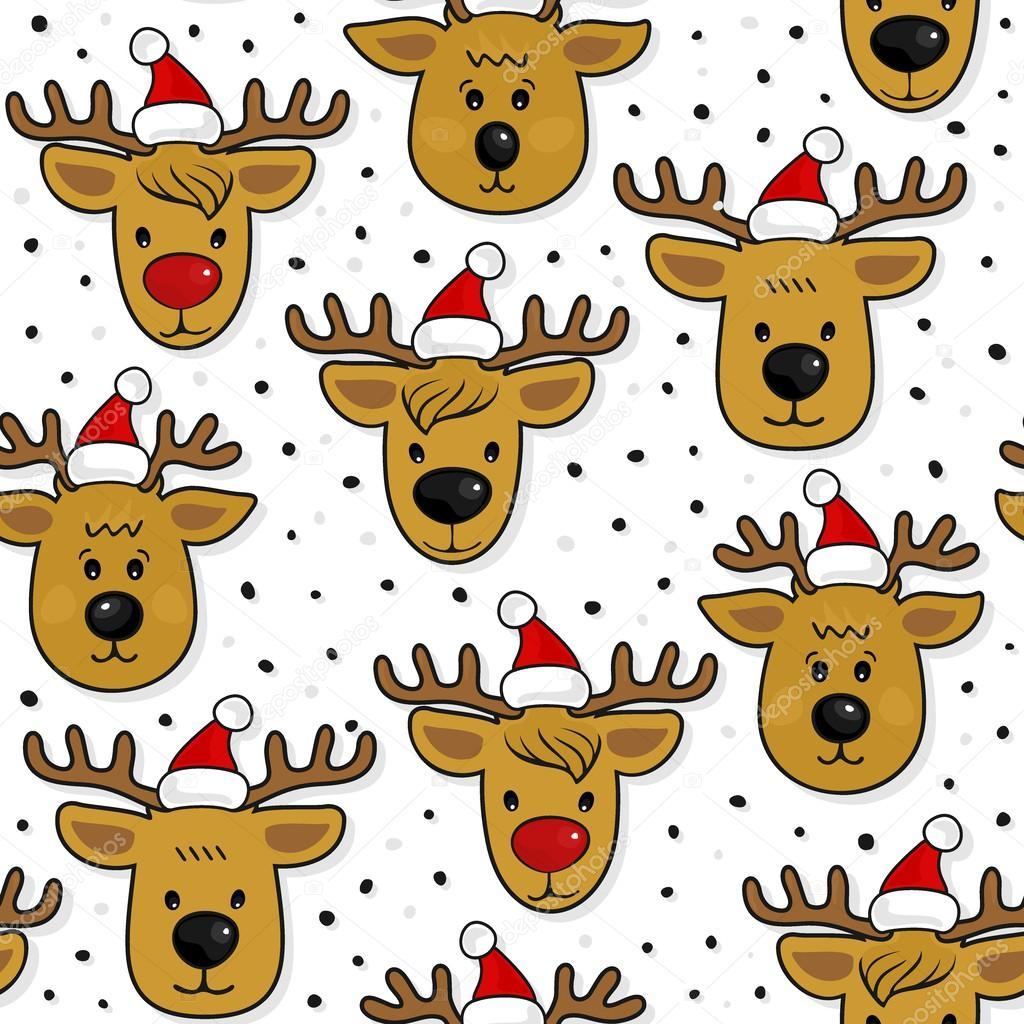 Renos de Santa Claus sombreros sucios Navidad invierno vacaciones de ...