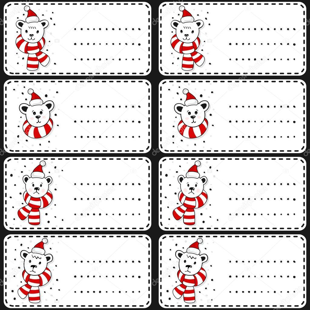 Eisbären in Weihnachtsmann Mützen Weihnachtsgeschenk Winter Urlaub ...