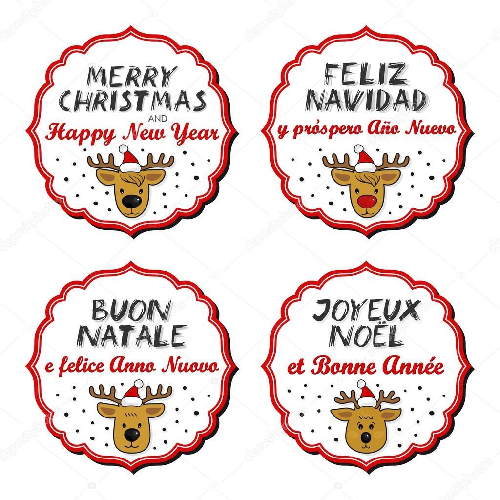 Babbo Natale In Spagnolo.Renna In Cappelli Del Babbo Natale Con Cornice D Epoca E