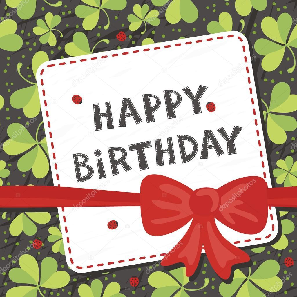 přání k narozeninám v angličtině červenou mašli na jetel luční s berušky přání k narozeninám přání  přání k narozeninám v angličtině