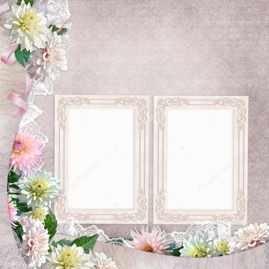 Beautiful borders with flowers lace and frames on the vintage beautiful borders with flowers lace and frames on the vintage background photo by glaz izmirmasajfo