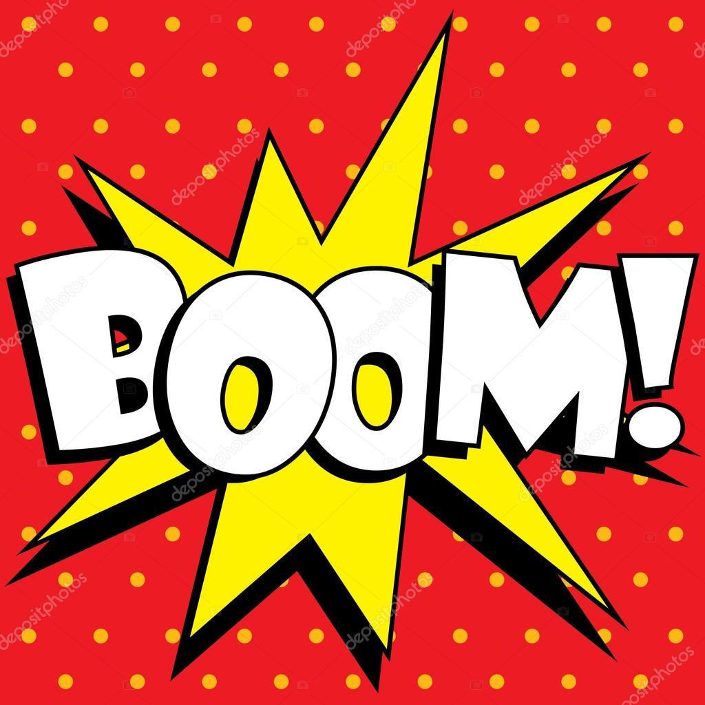 Explosion de boom de dessin anim image vectorielle - Boom dessin anime ...