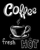 Čerstvý, svěží káva