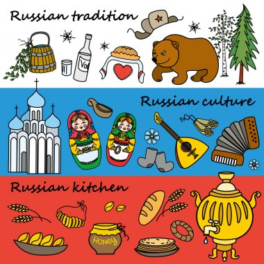 Russian symbols, travel Russia, Russian traditions.