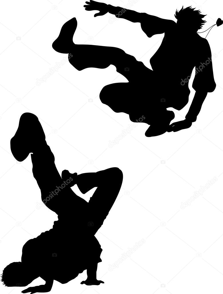 vector silhouette break dance — Stock Vector © naum100 ...