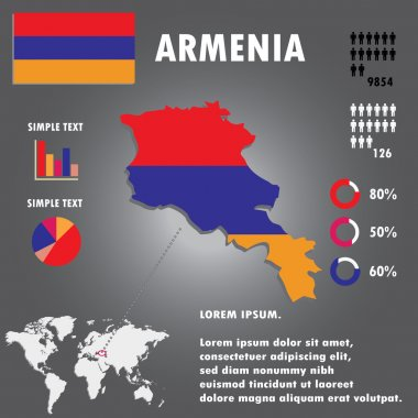 Armenia Country Infographics Template