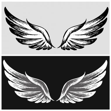 Set Wings,hand drawing