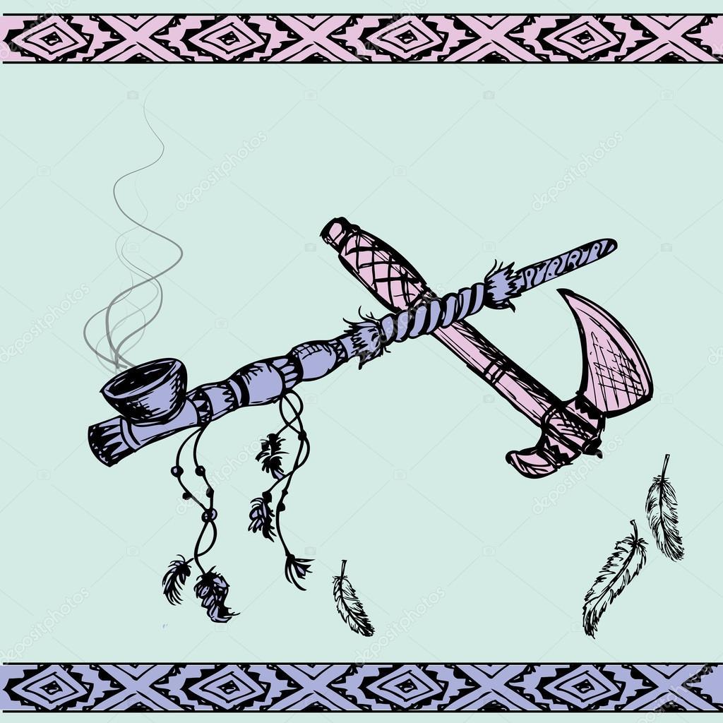 American indian peace pipe tattoos | Native American Peace
