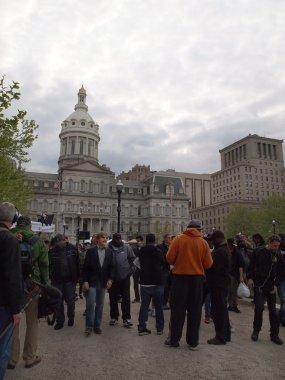 Geraldo Rivera in Baltimore