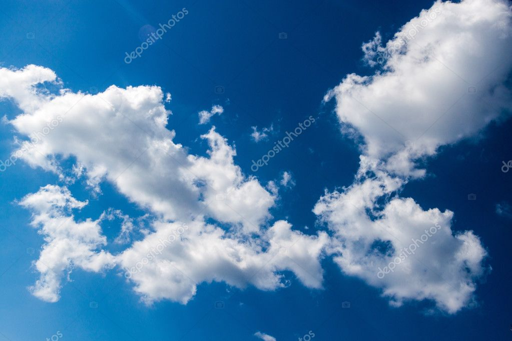 View of clouds on a blue sky