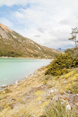 Laguna Esmeralda lake in Tierra del Fuego, Argentina